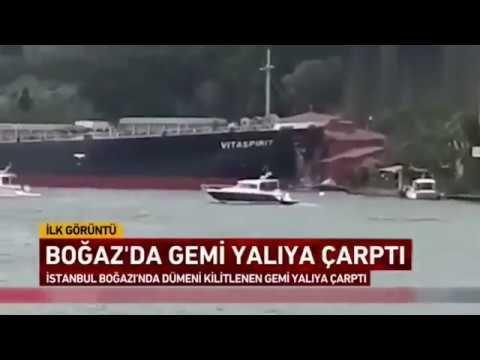 Son Dakika | Boğazda Kaza Tanker Yalıya Çaptı!