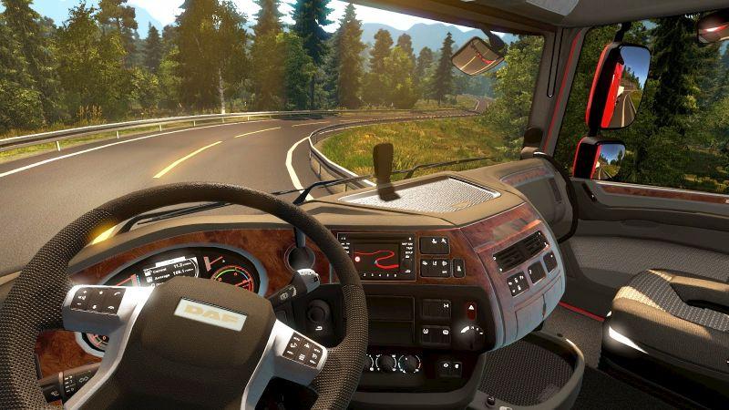Euro Truck Simulator oyun içinden alınmış bir ekran görüntüsü