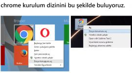 Windows üzerinde Google Chrome'un kurulum dizinini bulma