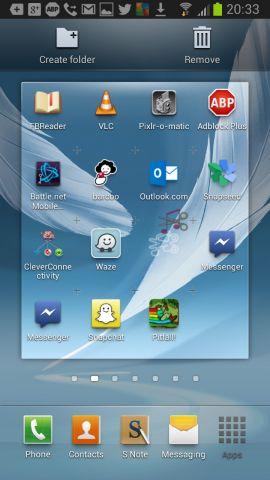 Android ekran görüntüsü