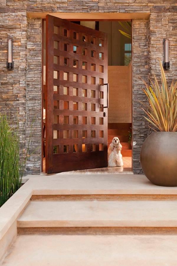 Hasır Sepet Desenli Kapı