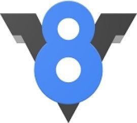 Açık kaynaklı javascript motoru v8'in resmi logosu