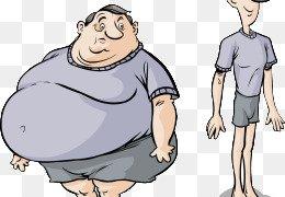 Skinny & Fat Compare - Significant Clipart